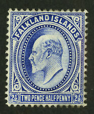 Falkland Islands  1904-07  Scott # 26  Mint Very Lightly Hinged