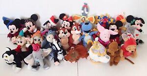 Retired WDW Disney Beanie Soft Toy Porkchop Flower Mice Chip Kovu Potts Choose