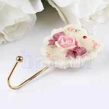 Wall Mounted Rose Heart Bowknot Robe Hook Door Bath Room Towel Clothes Hanger MA