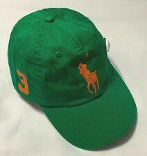 Polo Ralph Lauren Baseball Cap Hat Big Pony Adjustable Leather Strap Green NWT