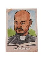 Topps Walking Dead Evolution ONE-OF-A-KIND Hand Drawn Sketch Card - Gabriel 1/1!