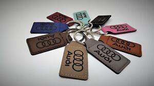 Audi Quattro S RS Line Leather Keychain Key Fob