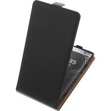 BOLSA para Sony Xperia XA2 MUY Funda protectora Teléfono Móvil con tapa negro