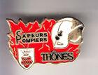 RARE PINS PIN'S .. POMPIER FIRE CASERNE BLASON ARM THONES SAVOIE 74 ~CD