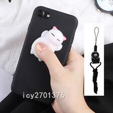 Cute Cartoon Anti Stress Squishy Soft Phone Case Cover For Samsung & Neck Strap