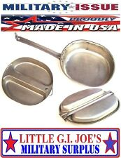 NICE Military Issue Mess Kit Stainless Steel Mess Kit Survival Camping Cookware