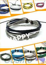Unbranded Leather Cuff Fashion Bracelets