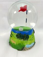"""Vintage 6"""" Water Globe Golf 18th Hole Paperweight Game Ball & Hole in One"""