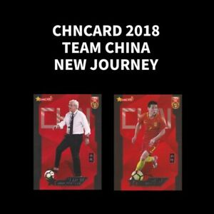 Chncard 2018 CFA TEAM CHINA NEW JOURNEY Football Soccer Card Base Insert