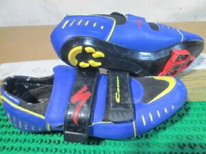 Specialized Comp Bike Shoes 610-0447, 3 Bolt & 2 Bolt Size Eur 47, US 13 Blue