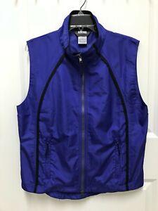 Moving Comfort Light Cycling Vest Windbreaker Blue Purple Size Medium