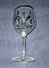 Three Vintage Crystal Clear Wine Glasses