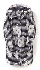 BNWT Joules Grey Peony Stripe Raincoat Jacket Coat - Size 10 - RRP £139