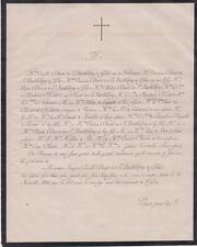 *1866 Faire-part décès François-Camille DUCOS de SAINT-BARTHÉLEMY de GÉLAS Gers