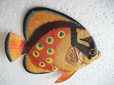 Tropical Fish Wall Plaque Tiki Bar Beach Pool Nautical Decor Size 5.25 in TFW14