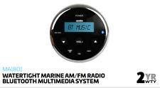 Axis MA1801 MARINE STEREO BLUETOOTH WATERTIGHT MP3 USB AM FM AUX INPUT IP66