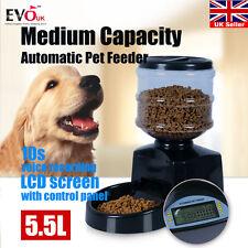 5.5L Big Automatic Program Digital Display Pet Cat Dog Feeder Food Bowl Dispense