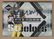 09 2009 Limited Phenoms SILVER Mike Wallace 2C Jersey Patch Auto RC #'d 1/25