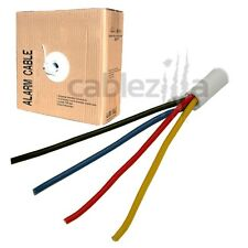 22/4 Gauge AWG 500ft Alarm Security Wire Cable Stranded Conductor Unshielded