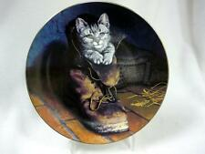 COA PUSS IN BOOTS WILSON HEPPLE COLLECTOR  PLATE VICTORIAN CAT CAPERS 2ND