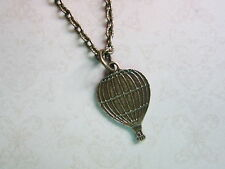 Balloon Necklace Brand New Festival Kitsch Vintage Look Bronze Tone Hot Air