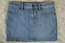 """BCBG Maya Aura Style Denim Blue Jean Mini Skirt Womens Sz 27 EUC 28"""" Waist"""