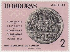 (HO46) 1964 Honduras 2c black and mauve ow631