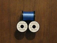 Fly Tying Uni-Single Strand Super Floss 15 yd. Silver Doctor Blue