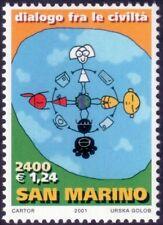 2001 Dialogue among civilizations - San Marino - isolated stamp