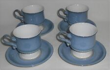Set (4) Denby CASTILE PATTERN Cup and Saucers MADE IN ENGLAND