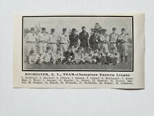 Rochester Bronchos 1911 Team Picture Fred Osborn Hack Simmons Fred Jacklitsch
