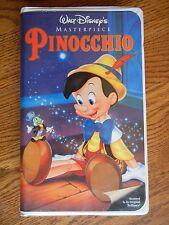 Walt Disney's Masterpiece Pinocchio VHS Rare Collector's