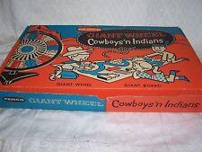 1958 REMCO VINTAGE COWBOYS 'N INDIANS GIANT WHEEL BOARD GAME -MIB-RARE