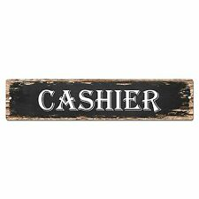 SP0815 CASHIER Street Sign Bar Store Shop Pub Cafe Home Room Shabby Chic Decor