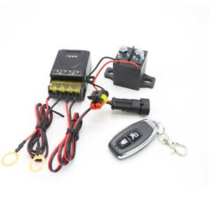 Wireless Remote 12V Car Battery Positive&Negative Disconnect Relay Power Cut Off