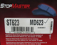 BRAND NEW STOP MASTER BRAKE PADS MD623 / D623 FITS VEHICLES LISTED ON CHART