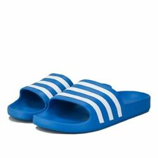 Men's adidas Adilette Aqua Lightweight Quick Dry Slider Sandals in Blue