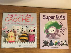 2x Crochet Craft Books Super Cute Crochet Amigurumi Nicki Trench Annie Obaachan