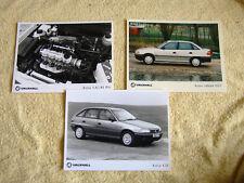 Vauxhall Astra Mk3 Press Photos x 3, 1991, GLS, CD Models