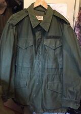 Vintage 1957s KOREA War US Army Military Olive Green M-1951 Uniform Coat Jacket.