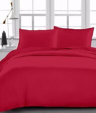 """Fitted Sheet 1000 TC, Drop 15"""" Inch, King Size - Burgundy Solid"""