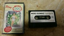 Micro Olympics Video Game Cassette Commodore 64 C64/C128 💜💜💜 FREE POST