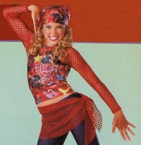 If I Ain't Got You Dance Costume Graffiti Top Pants Wrap Bandana Child Medium