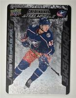 2019-20 Credentials Steel Wheels #SW-9 Alexandre Texier RC Columbus Blue Jackets