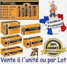 Piles DURACELL LR03 LR6 6LR61 LR14 LR20 ( INDUSTRIAL idem Alcaline PLUS POWER )