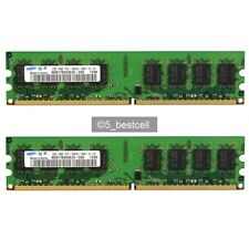 New Samsung 4GB 2X 2GB pc2-5300 240pin DDR2 667Mhz Desktop Memory pc5300 DIMM