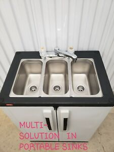 Portable sink mobile Self contained Hot Water concession three  COMPARTMENT 110V