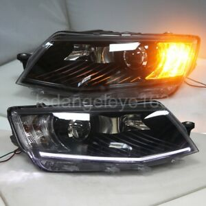 LED Headlights For Skoda Octavia LED front lamps lights 2015-2017 year PW