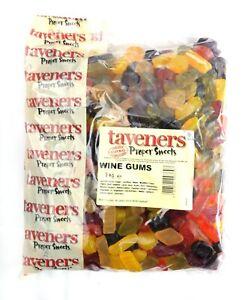 Taveners Wine Gums 3kg - Traditional Pick n Mix Sweets