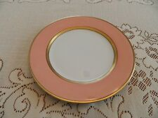 "Fitz & Floyd China Renaissance Peach Gold Trim 7 1/2"" Salad Plate 10-2"